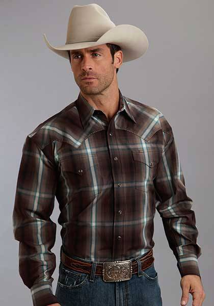 Stetson Mens Collection Long Sleeve Button Shirt-Fall Iv