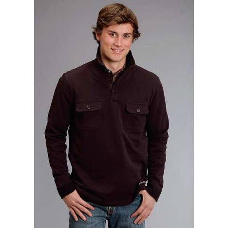 Stetson Mens Original Rugged French Terry Knit Pullover