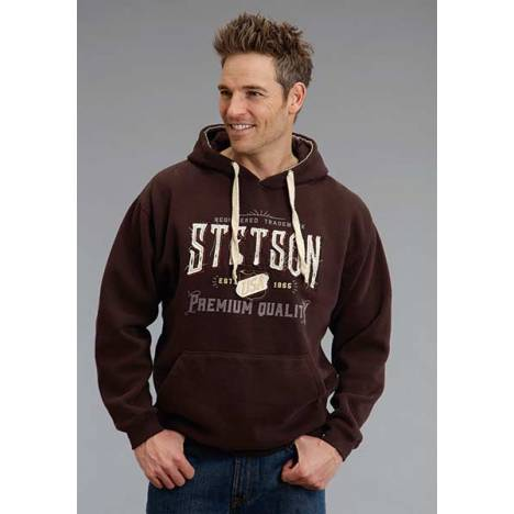 Stetson Mens Premium Quality Applique Logo Hooded Sweatshirt
