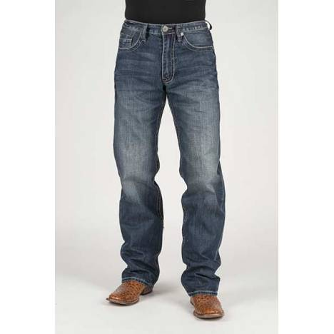 Stetson Mens Self Fabric X Deco Pocket Lower Rise Relaxed Jeans