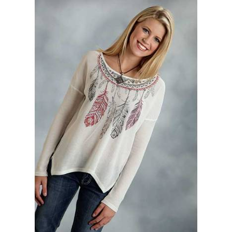 Roper Ladies Autumn Rose Light Weight Thermal Knit Top