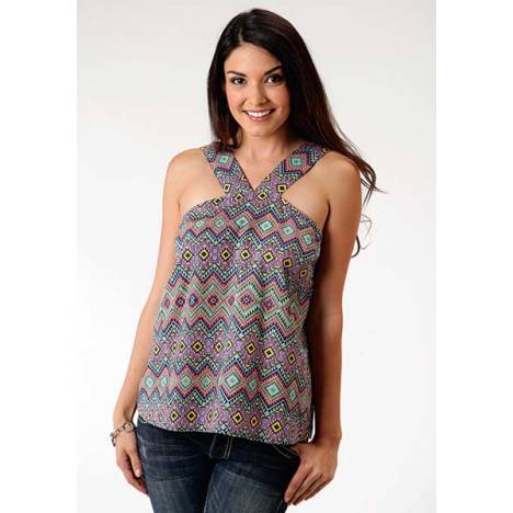 Roper Ladies Aztec Halter Neck Cami