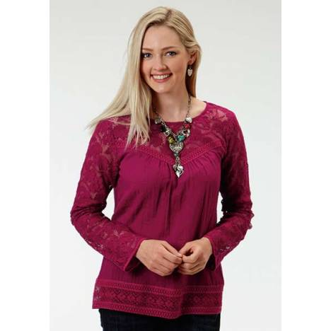 Roper Ladies Out Of The Blue Peasant Blouse