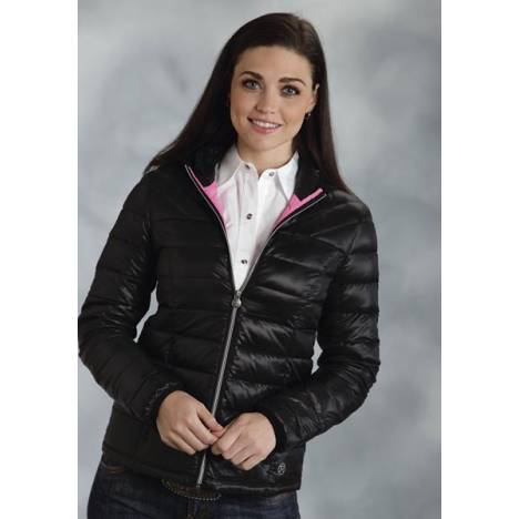 Roper Ladies Parachute Crushable Lightweight Hooded Jacket - Black