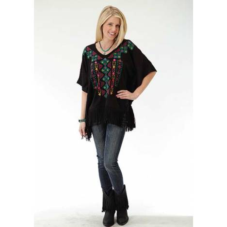 Roper Ladies Plus Size Colorful Knit Sweater Jersey Poncho