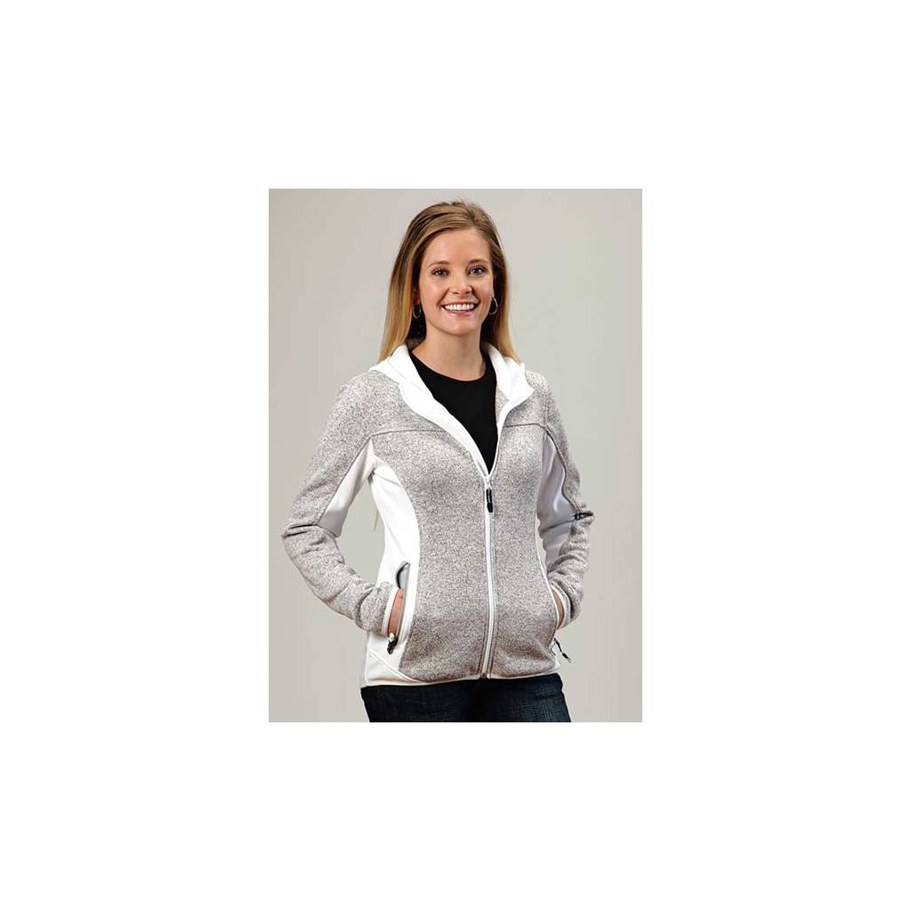 Roper Ladies Princess Seam Two Tone Zip Fleece Jacket