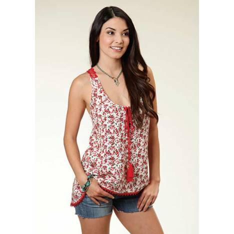Roper Ladies Rebel Rouser Floral Tank