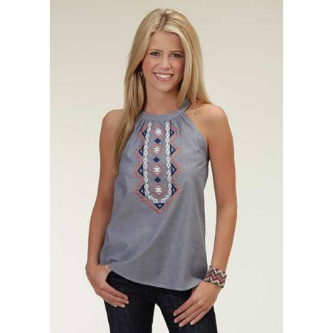 Roper Ladies Spring Breeze Chambray Halter Top