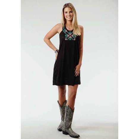 Roper Ladies Wildwood Slub Jersey Halter Neck Dress