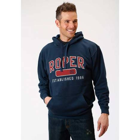 Roper Mens Embroidered Reflective Stitched Hooded Sweatshirt