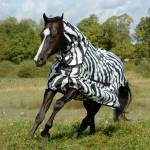 Bucas Sweet Itch Zebra Full Neck Sheet