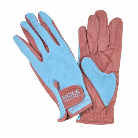 Moxie 2-Tone Comfort-Fit Kids Riding Gloves