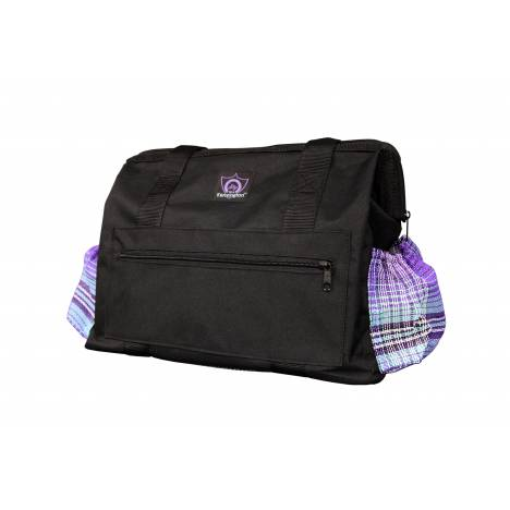 Kensington All Around Zipper Tote - Black with Lavender Mint