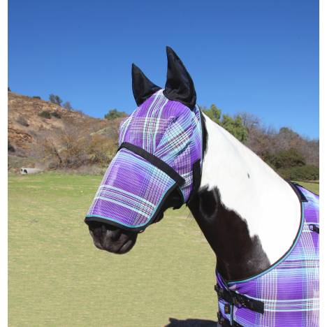 Kensington Fly Mask with Soft Mesh Ears & Long Nose - Lavender Mint