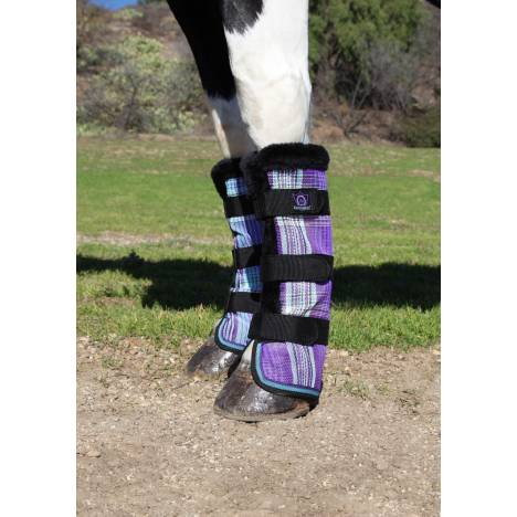 Kensington Pony Fly Boots - Lavender Mint