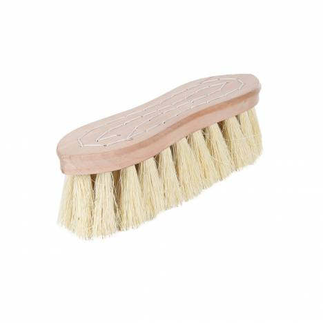 Horze Wood Back Firm Brush with Natural Bristles - 2 Inch