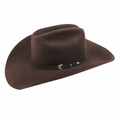 Ariat Mens 3X Fur Double S Crown 3 Pc Buckle Band Western Hat