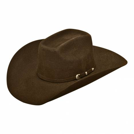 Ariat Mens Wool Added Money Crown 3 Pc Buckle Band Western Hat