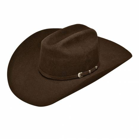 Ariat Mens Wool Double SS Brim & Crown 3 Pc Buckle Band Western Hat