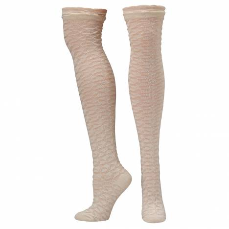 Blazin Roxx Ladies Knee High Honeycomb Socks