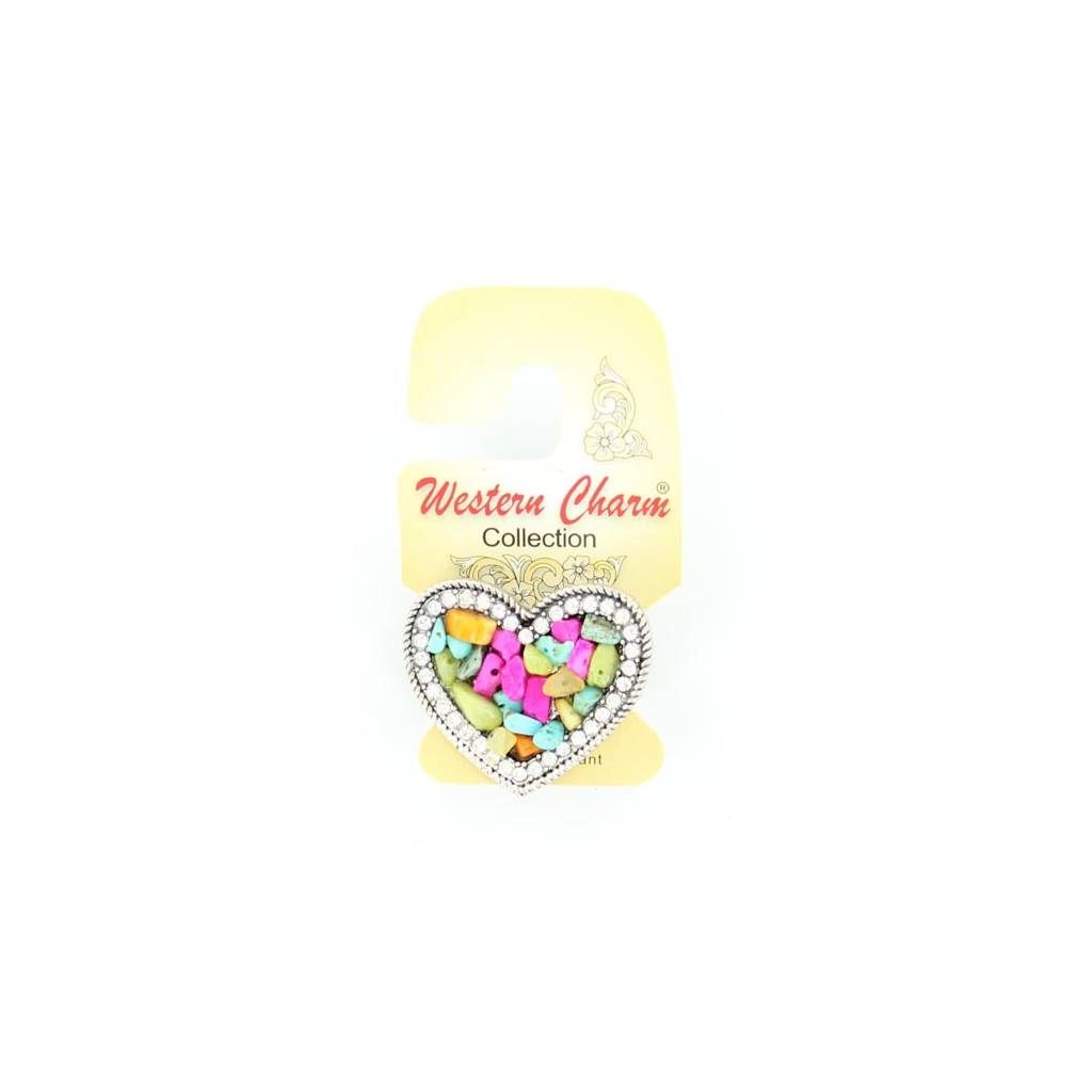 Blazin Roxx Heart Multi Stone Ring