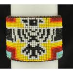 Blazin Roxx Leather Thunderbird Bead Cuff Bracelet