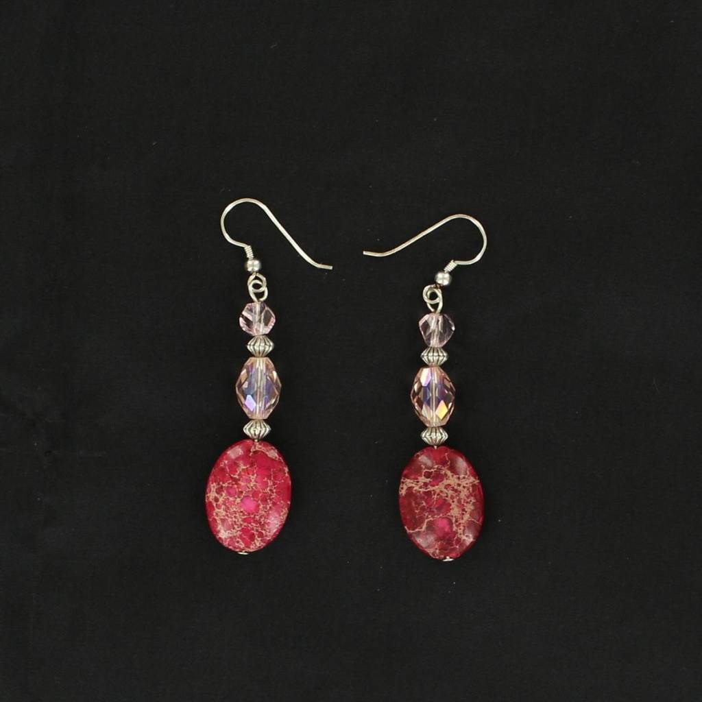 Blazin Roxx Two Color Stone Hook Earrings