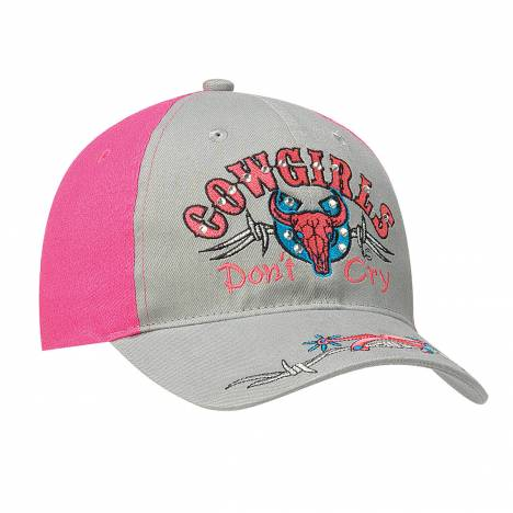 Blazin Roxx Youth hook & loop fastener Cowgirls DonT Cry Cap