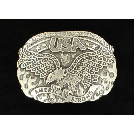 Nocona Mens Oval Eagle American Strong Fire Buckle