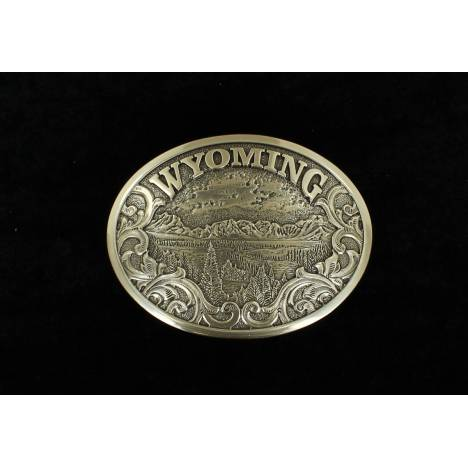 Nocona Mens Oval Wyoming Buckle