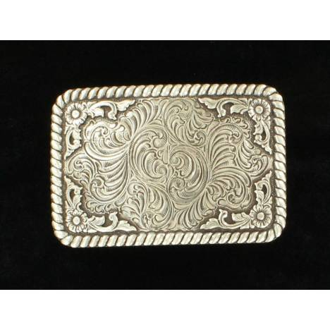 Nocona Mens Rectangle Scroll Edge Equine Buckle