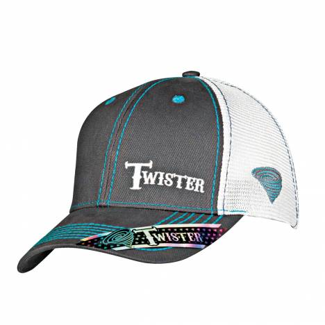 Twister Mens Snap Closure Text Logo Mesh Cap