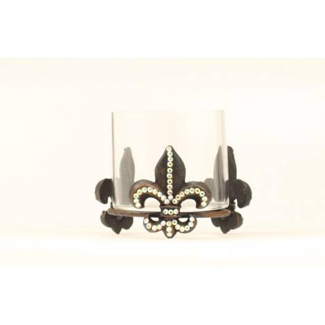 Western Moments Iron Fleur Candle Holder