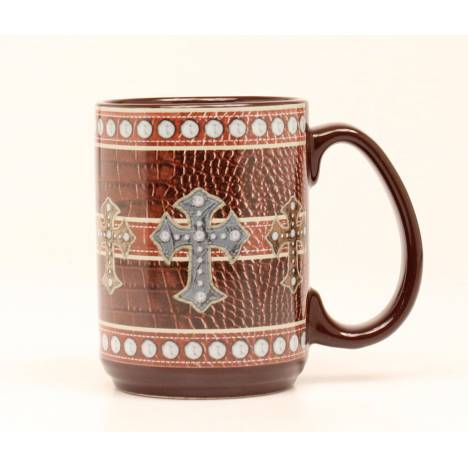 Western Moments Western Leather Cross Mug