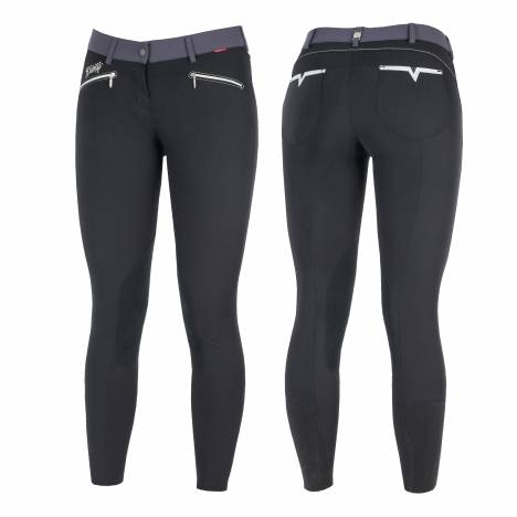 B Vertigo Ladies Claire Leather Knee Patch Breeches
