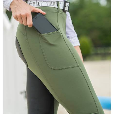 Fits Ladies All Season Full Seat Breeches - Hunter Green