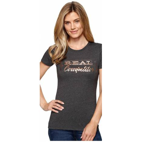 Ariat Ladies Real Competitor Tee - Charcoal Gray