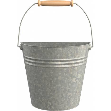 Half Round Wall Buckets With Wood Handles