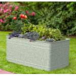 Raised Galvanized Trough Planter