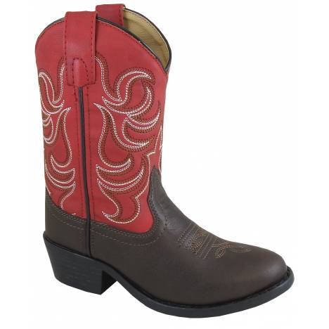 Smoky Mountain Youth Monterey Boot - Brown/Red