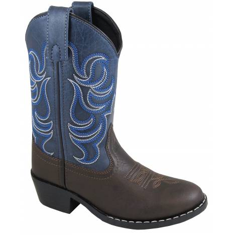 Smoky Mountain Youth Monterey Boot - Brown/Blue