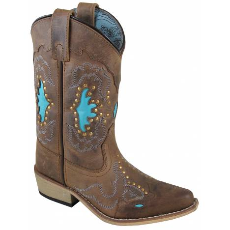 Smoky Mountain Ladies Moon Bay Boot - Brown/Turquoise