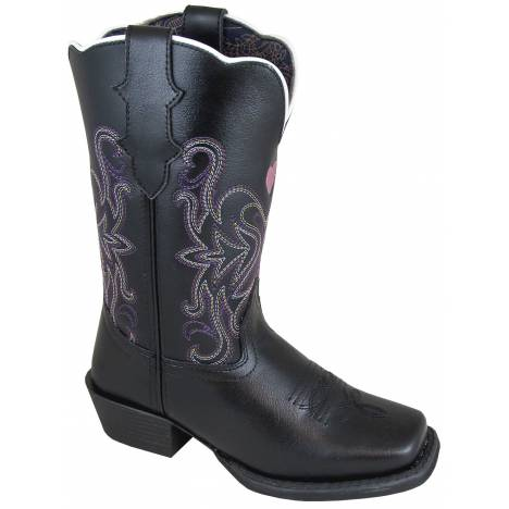 Smoky Mountain Youth Rockin Heart Boot - Black