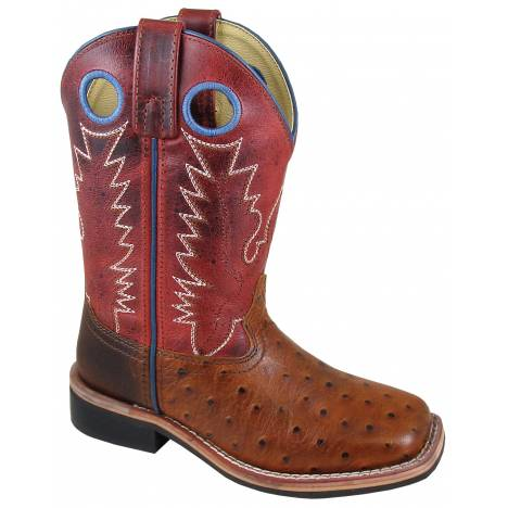 Smoky Mountain Youth Cheyenne Boot - Cognac/Red