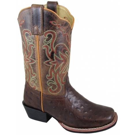 Smoky Mountain Youth Belle Boot - Tobacco/Brown Crackle