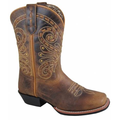 Smoky Mountain Ladies Shelby Boot - Brown Waxed Distress