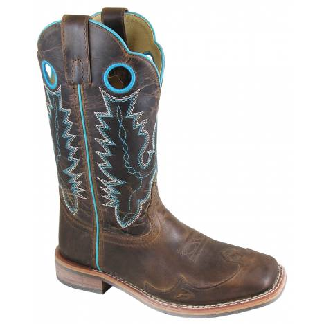 Smoky Mountain Ladies Marianna Boot - Brown Waxed Distress