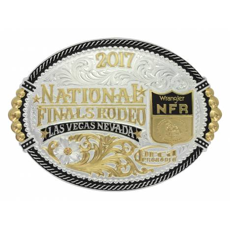 Montana Silver 2017 NFR Shield Oval Buckle