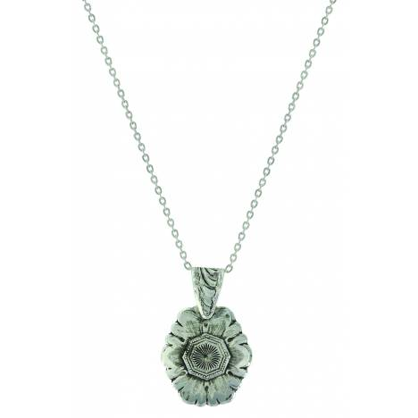 Montana Silver Antiqued Floral Pendant Necklace