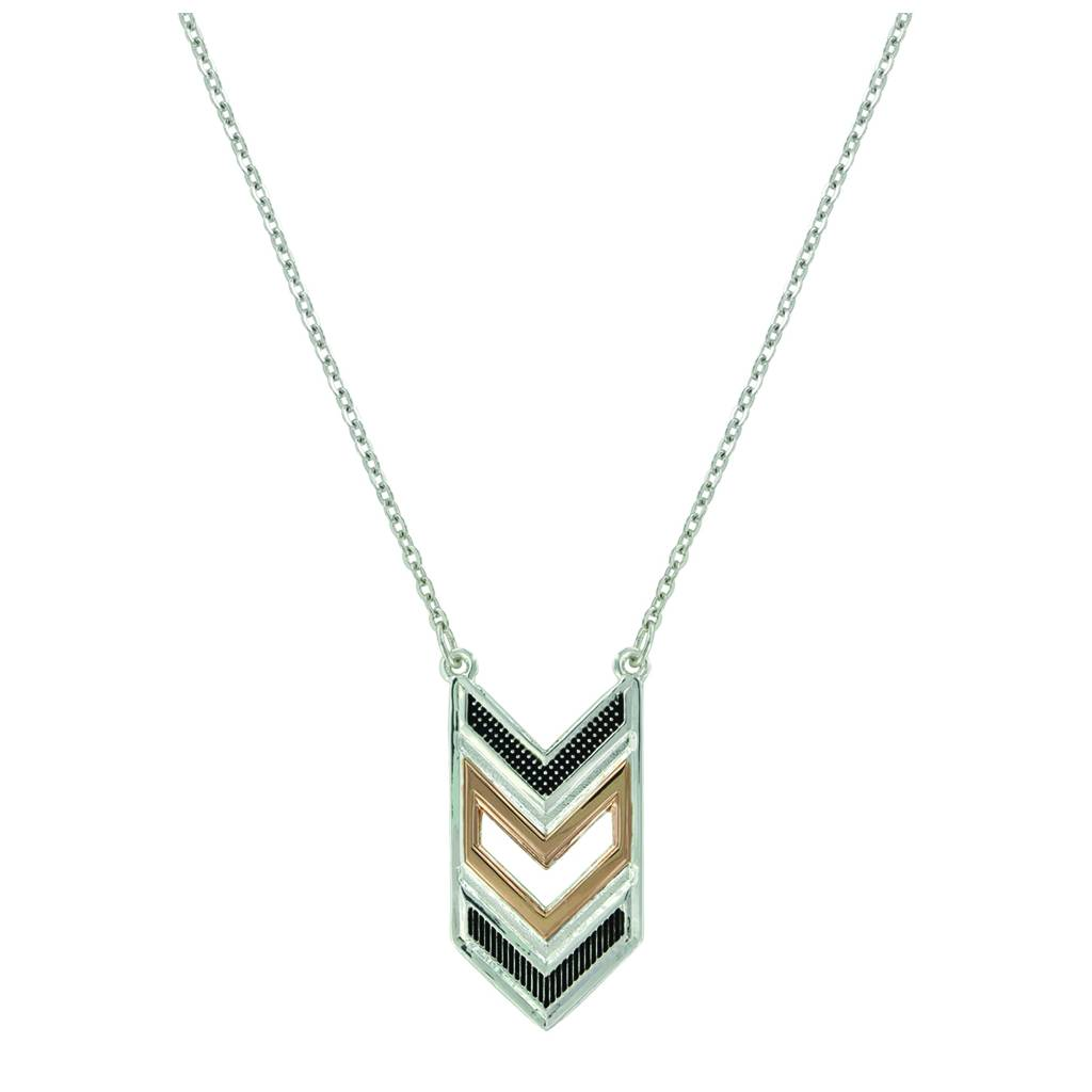 Montana Silver Isle of Anglesy Necklace/ Chevron Strength Necklace